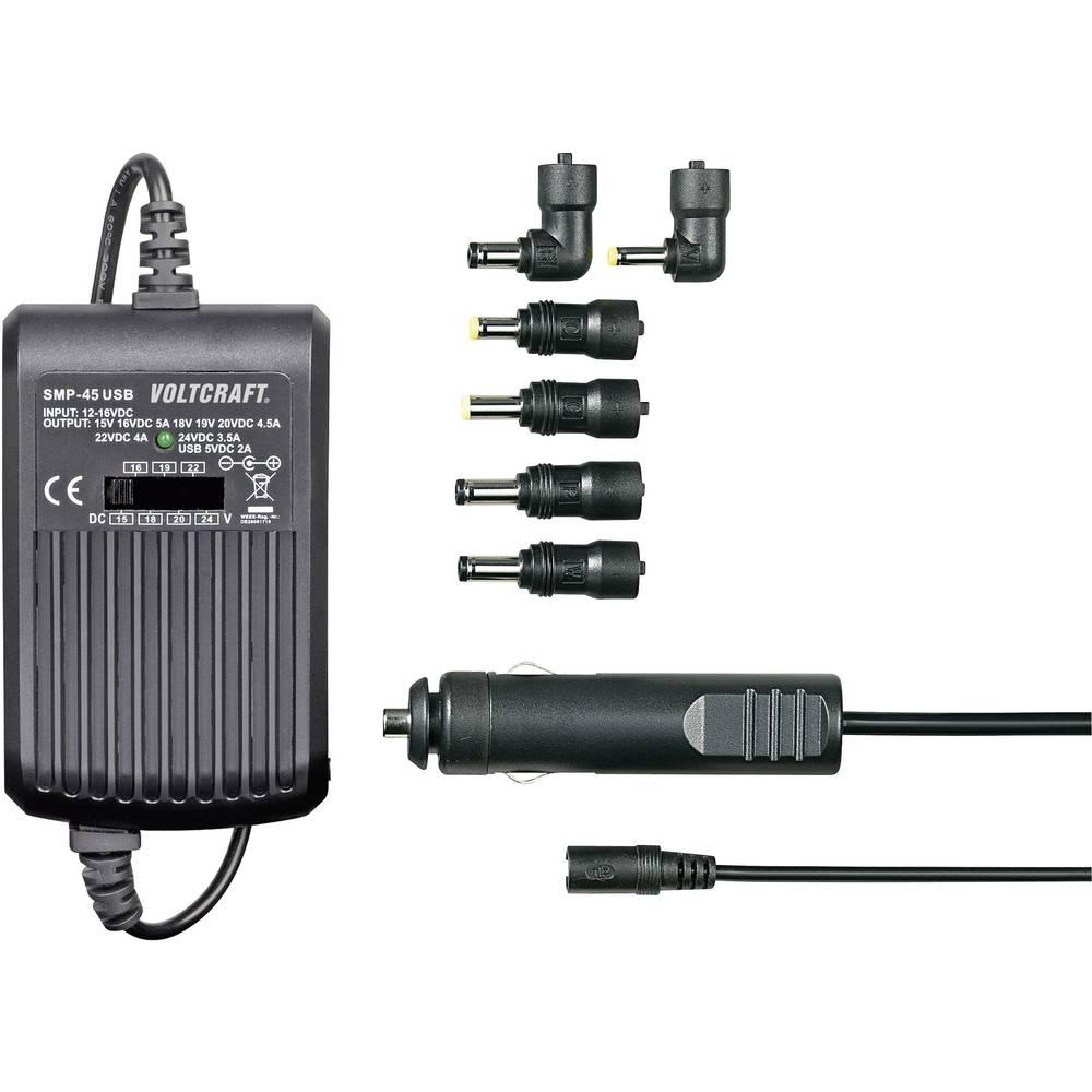 Napajalnik za prenosnik VOLTCRAFT SMP-45 USB 45 W 9.5 V/DC, 12 V/DC, 15 V/DC, 16 V/DC, 18 V/DC, 19 V/DC, 20 V/DC 3 A