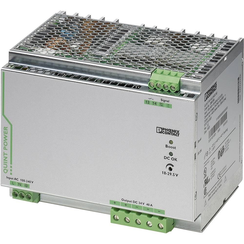 Napajalnik za namestitev na vodila (DIN letev) Phoenix Contact QUINT-PS/1AC/24DC/40 24 V/DC 40 A 18 W 1 x