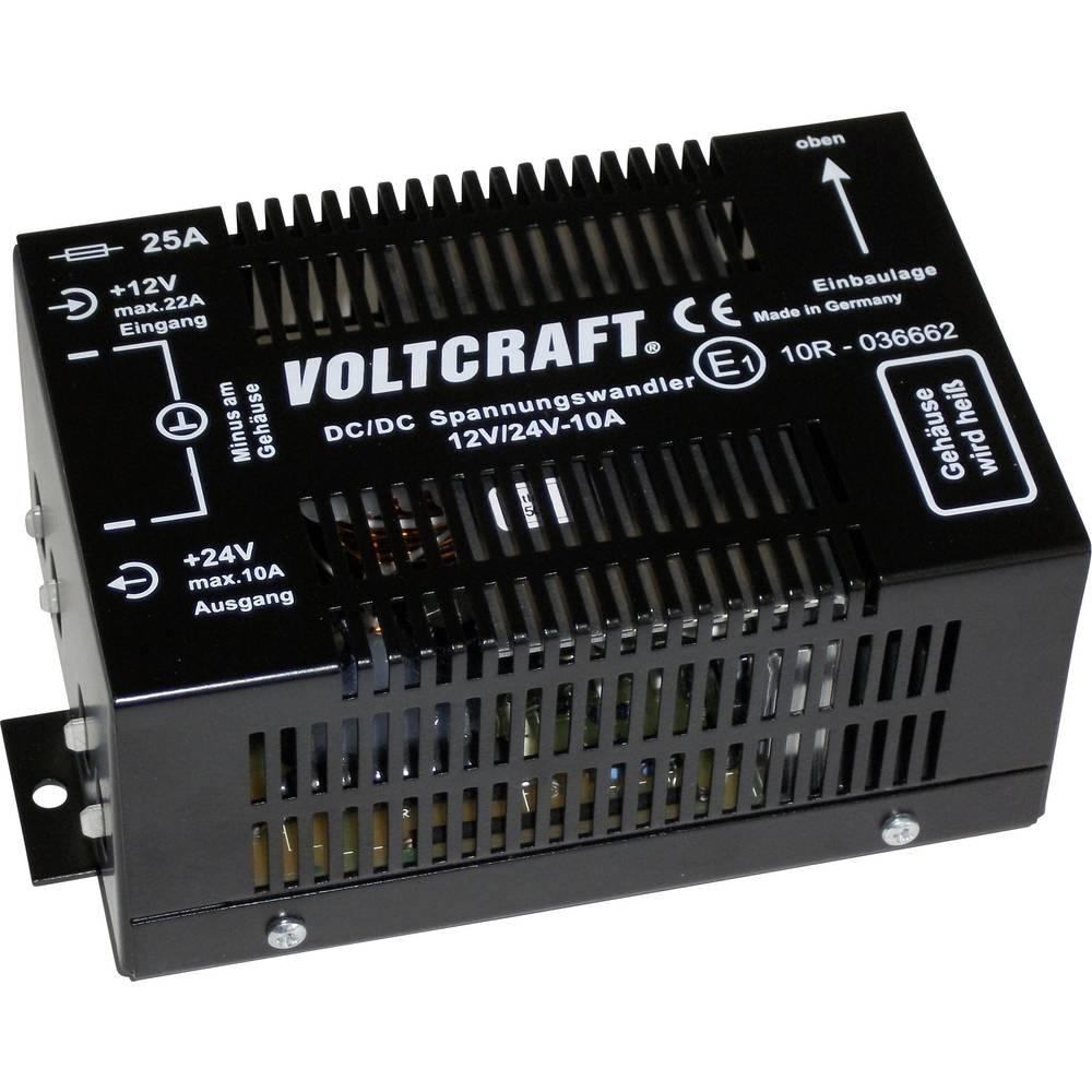 Pretvarač istosmjernog napona za motorna vozila VOLTCRAFT 12/10 24 V/DC/10 A