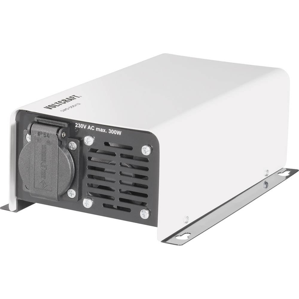 Izmjenjivač VOLTCRAFT SWD-300/12 300 W 12 V/DC 12 V/DC daljinsko upravljanje vijčane stezaljke šuko utičnica
