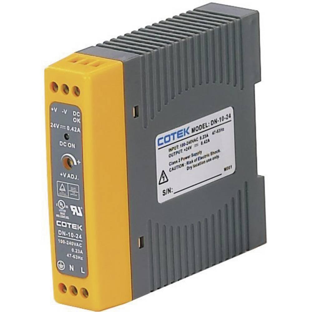 Adapter napajanja za profilne šine (DIN-letva) Cotek DN 10-15 16.5 V/DC 0.67 A 10 W 1 x