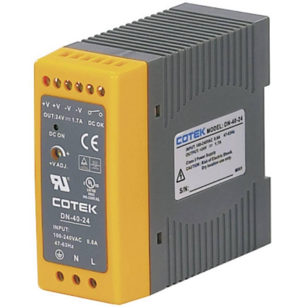 Adapter napajanja za profilne šine (DIN-letva) Cotek DN 40-24 26.4 V/DC 1.7 A 40.8 W 1 x