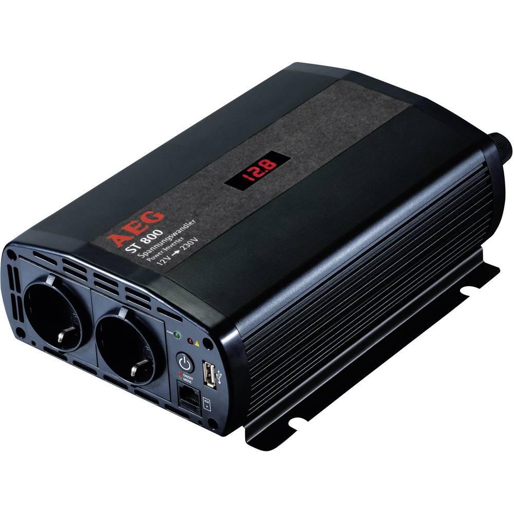Inverter AEG ST 800 800 W 12 V/DC 12 V/DC (10,5 - 12,0 V/DC) inkl. fjernbetjening Skrueklemmer