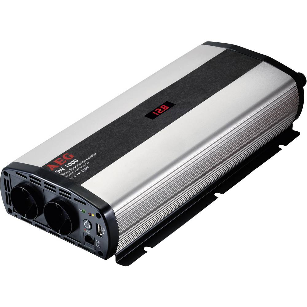 Inverter AEG SW 1000 1000 W 12 V/DC 12 V/DC (10,5 - 12,0 V/DC) inkl. fjernbetjening Skrueklemmer