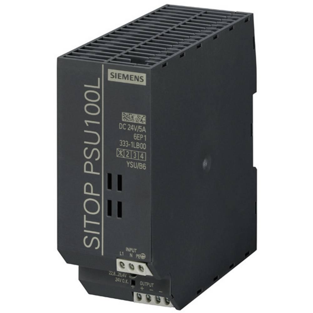 DIN-skena nätaggregat Siemens SITOP PSU100L 24 V/5 A 26.4 V/DC 5 A 120 W 1 x