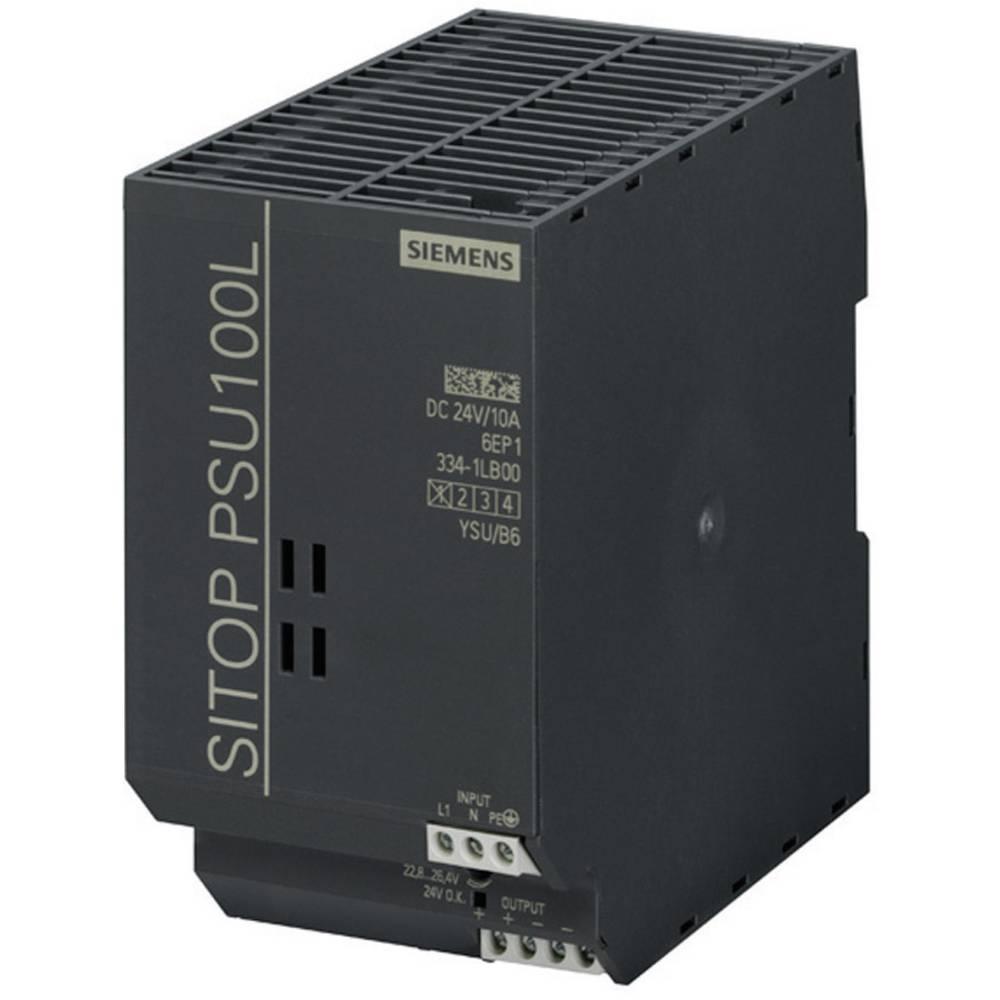 DIN-skena nätaggregat Siemens SITOP PSU100L 24 V/10 A 26.4 V/DC 10 A 240 W 1 x