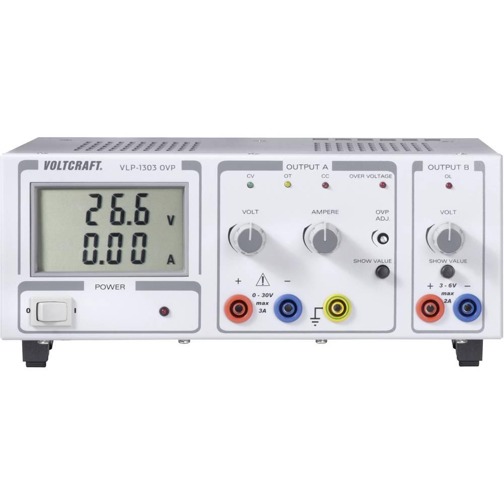 Laboratorijski napajalnik, nastavljiv VOLTCRAFT VLP 1303 OVP 0 - 30 V/DC 0 - 3 A 102 W OVP število izhodov: 2 x kalibriran po IS