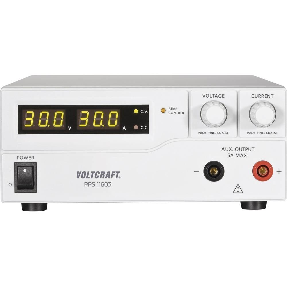 Laboratorijski napajalnik, nastavljiv VOLTCRAFT PPS-11603 1 - 60 V/DC 0 - 2.5 A 160 W USB, daljinsko vodenje z možnostjo program