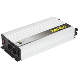 Razsmernik e-ast HighPowerSinus HPLS 2000-12 2000 W 12 V/DC 12 V/DC (11 - 15 V) vijačne objemke, varnostna vtičnica