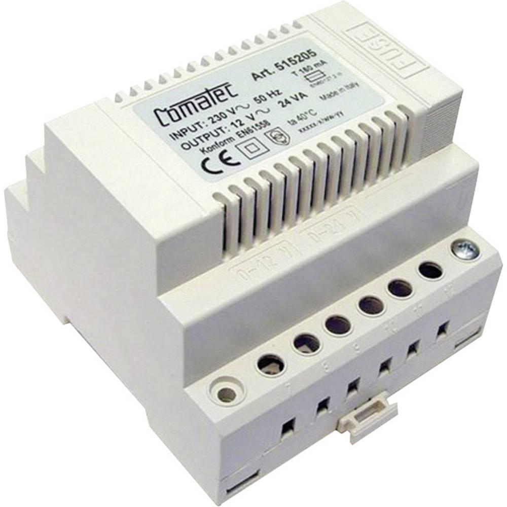 Napajalnik za namestitev na vodila, serije TBD2 - AC/AC 12 V AC 24 W Comatec, vsebina: 1 kos