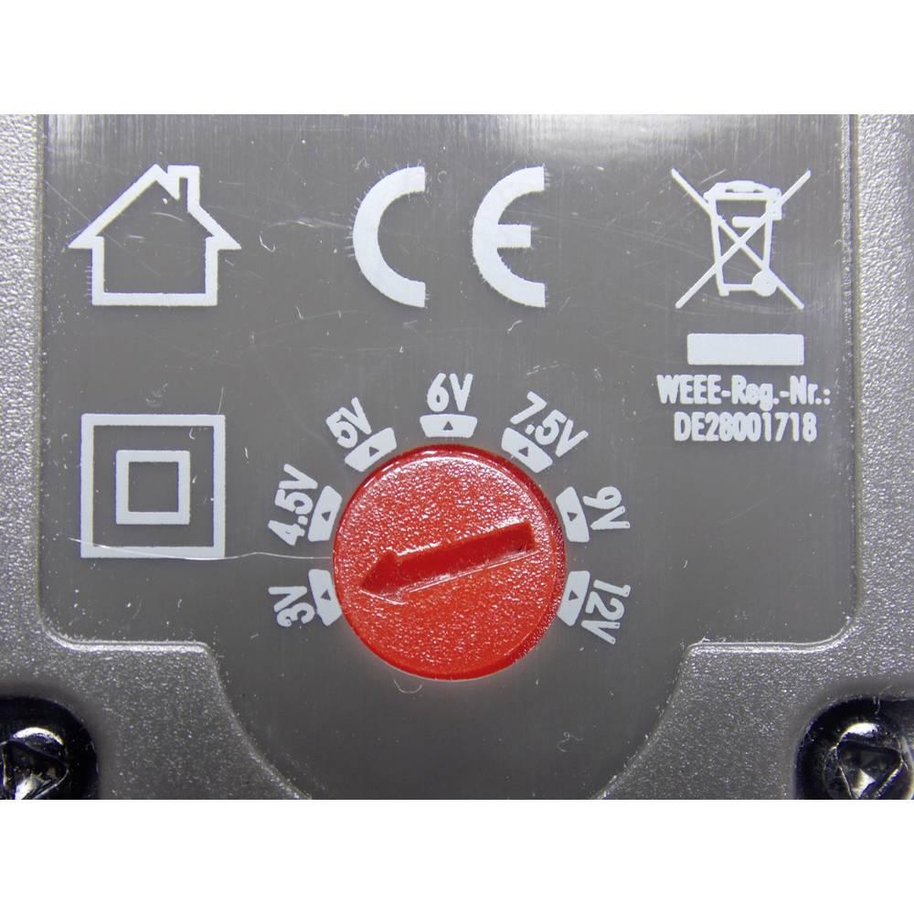Vtični napajalnik, nastavljiv VOLTCRAFT USPS-600 3 V/DC, 4.5 V/DC, 5 V/DC, 6 V/DC, 7.5 V/DC, 9 V/DC, 12 V/DC 600 mA 7.2 W