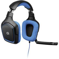 Gaming-headset Logitech Gaming G430 Over Ear Svart, Blå