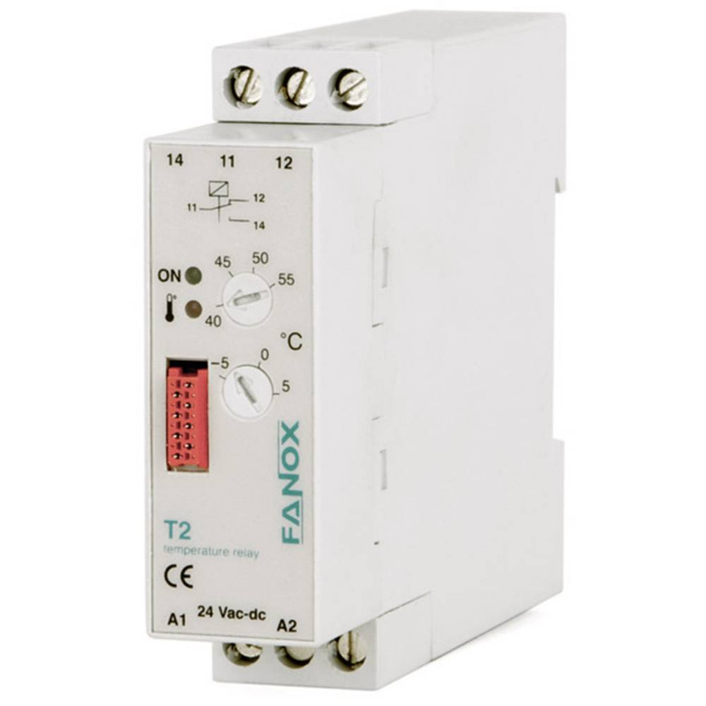 Rele za nadzor temperature T2 Fanox T2-24 VAC/DC Rele za nadzor temperature