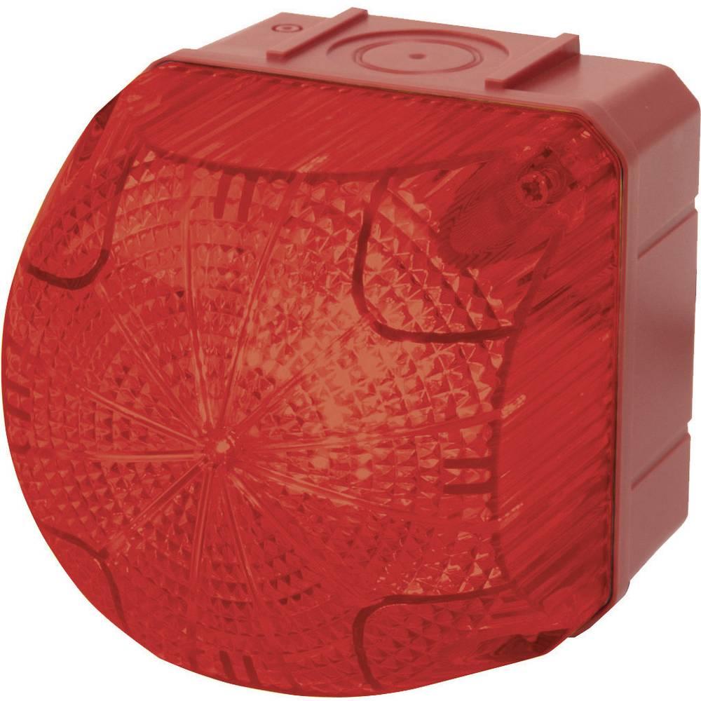 Signalna luč LED Auer Signalgeräte QDS rdeča neprekinjena luč, utripajoča luč 24 V/DC, 24 V/AC