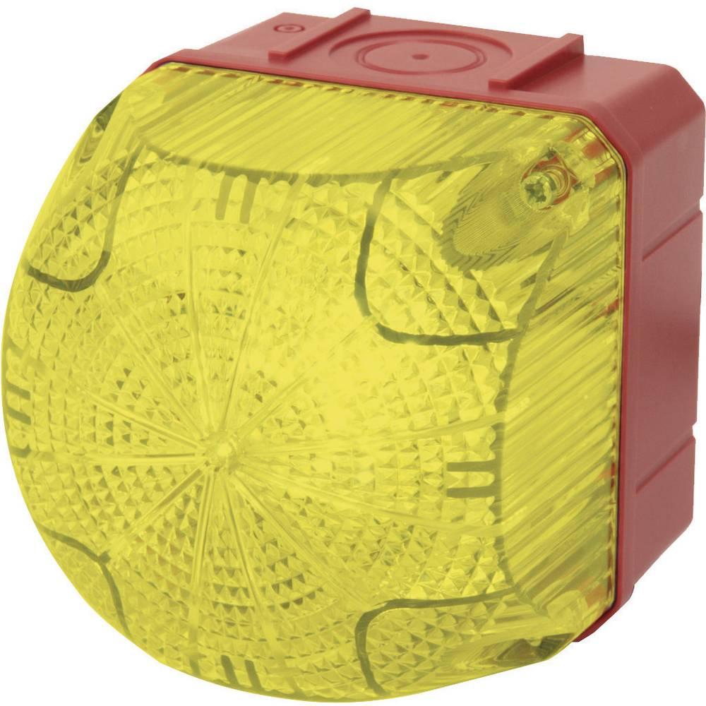 Signalna luč LED Auer Signalgeräte QDS rumena neprekinjena luč, utripajoča luč 230 V/AC