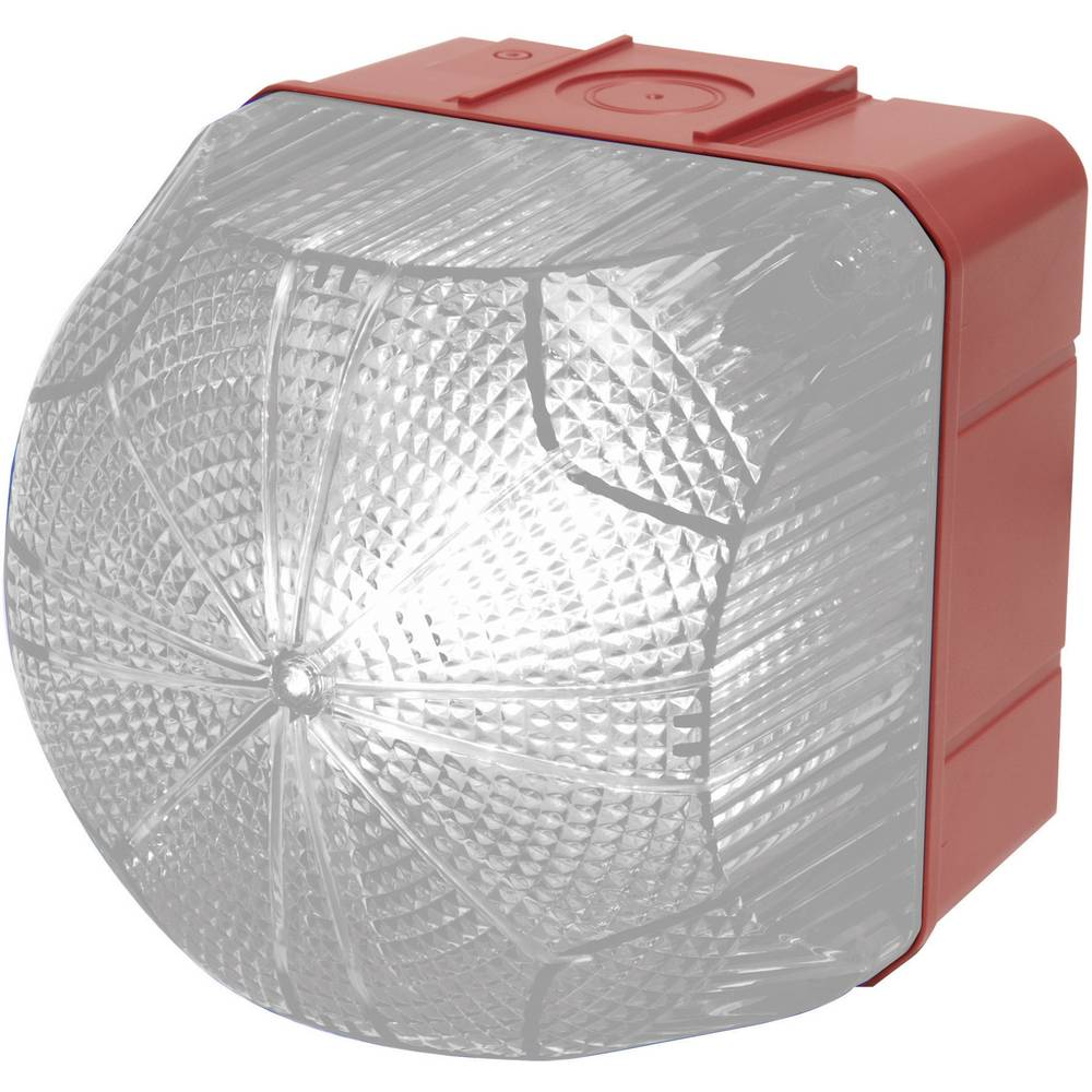 Signalna luč LED Auer Signalgeräte QDM jasna bela neprekinjena luč, utripajoča luč 24 V/DC, 24 V/AC, 48 V/DC, 48 V/AC