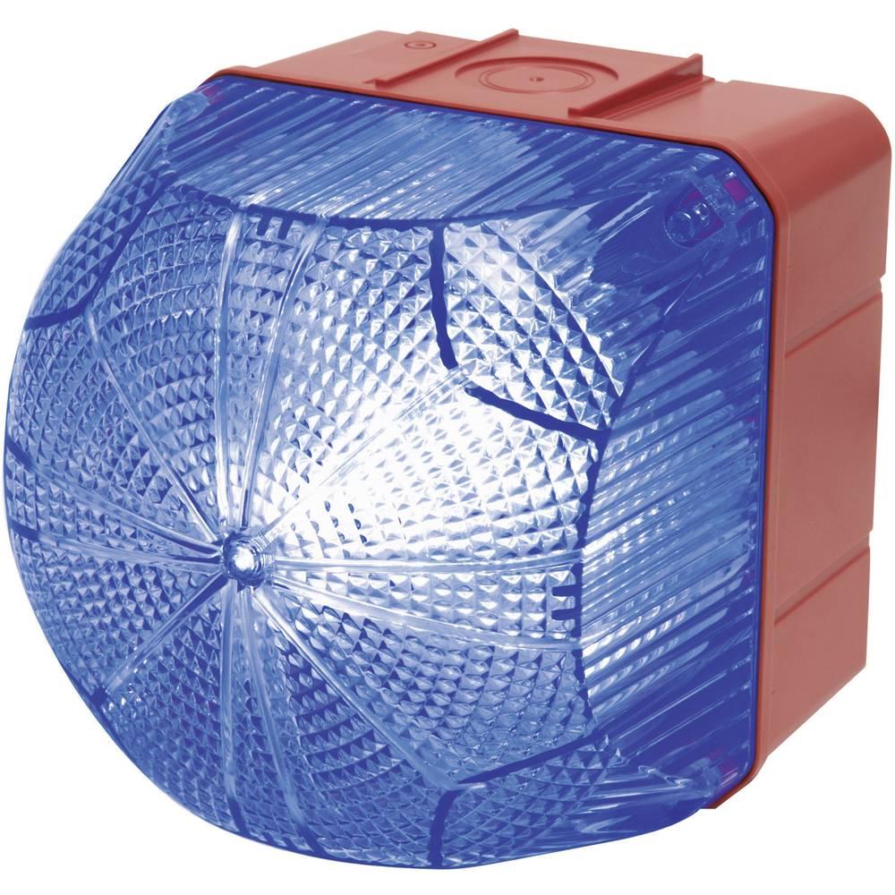 Signalna luč LED Auer Signalgeräte QDM modra neprekinjena luč, utripajoča luč 110 V/AC, 230 V/AC
