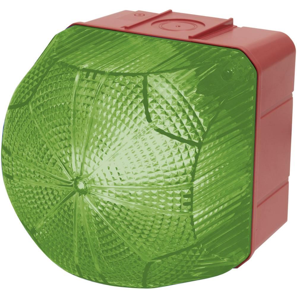 Signalna luč LED Auer Signalgeräte QDM zelena neprekinjena luč, utripajoča luč 110 V/AC, 230 V/AC