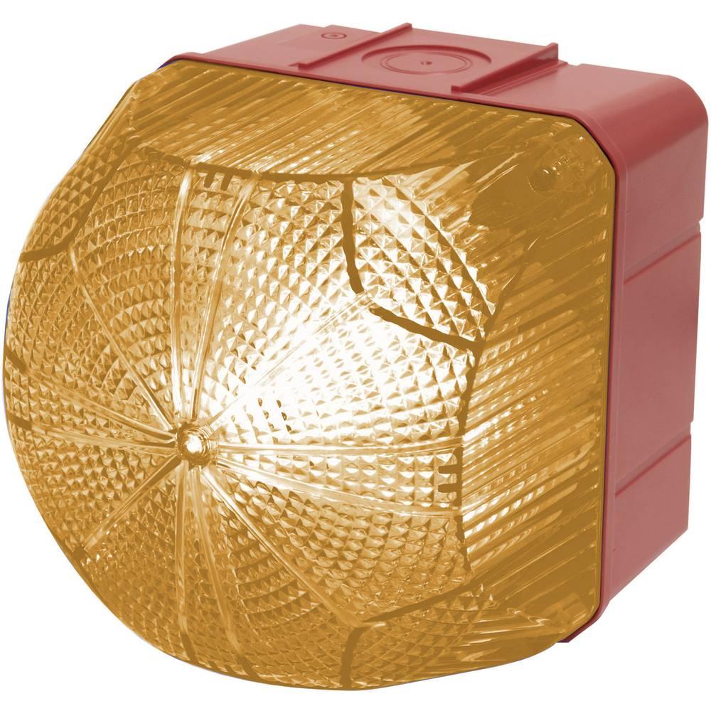 Signalna luč LED Auer Signalgeräte QDX oranžna neprekinjena luč, utripajoča luč 24 V/DC, 24 V/AC, 48 V/DC, 48 V/AC