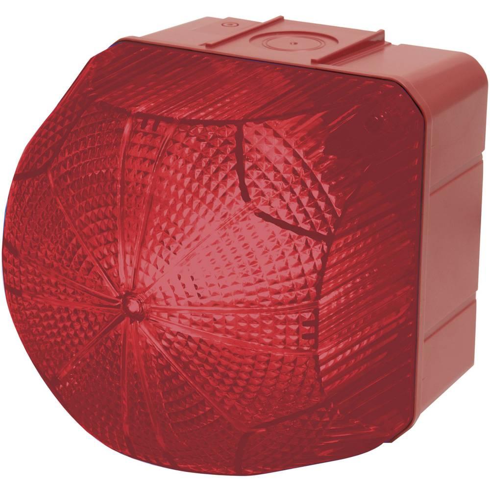 Signalna luč LED Auer Signalgeräte QDX rdeča neprekinjena luč, utripajoča luč 110 V/AC, 230 V/AC
