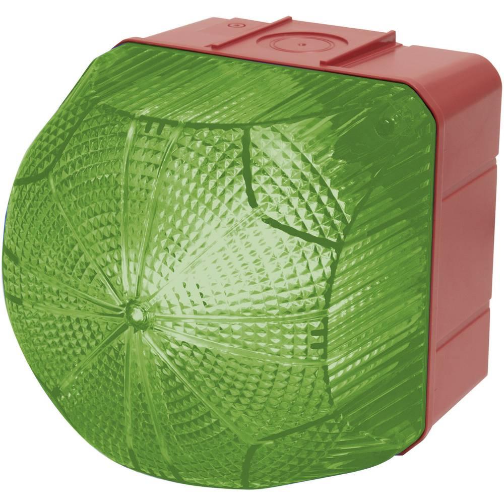Signalna luč LED Auer Signalgeräte QDX zelena neprekinjena luč, utripajoča luč 24 V/DC, 24 V/AC, 48 V/DC, 48 V/AC