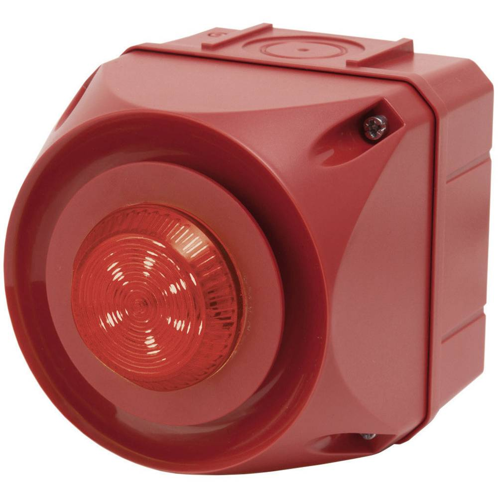 Kombinirani oddajnik signala Auer Signalgeräte ADS-T rdeča neprekinjena luč, utripajoča luč 230 V/AC 108 dB