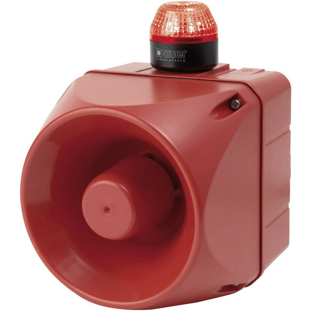 Kombinirani oddajnik signala LED Auer Signalgeräte ACM rdeča bliskavica 24 V/DC, 24 V/AC 113 dB