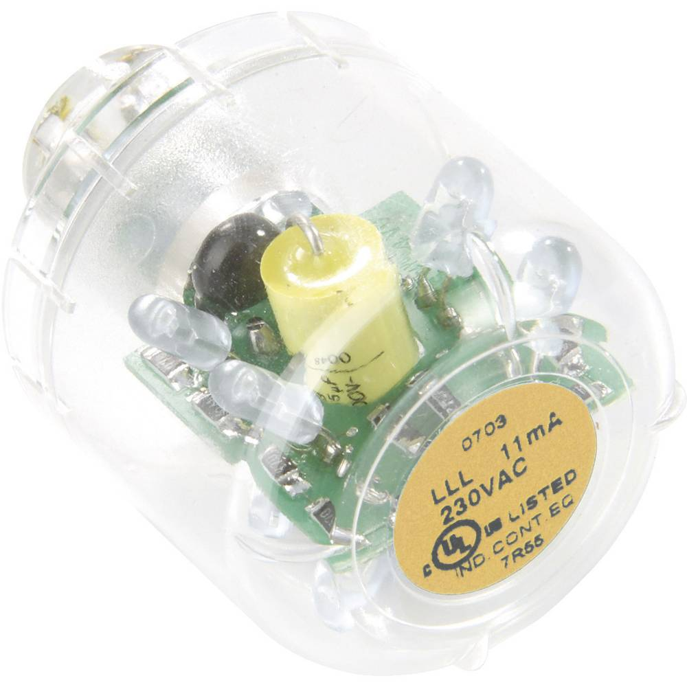 Auer Signalgeräte LED-svetilka LED-neprekinjena luč LLL oranžna, 12 V AC/DC, BA15d