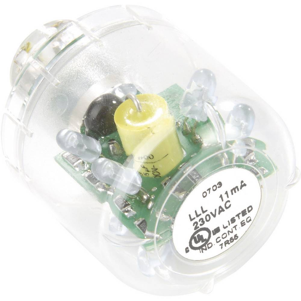 Auer Signalgeräte LED-svetilka LED-neprekinjena luč LLL jasna, 24 V AC/DC, BA15d