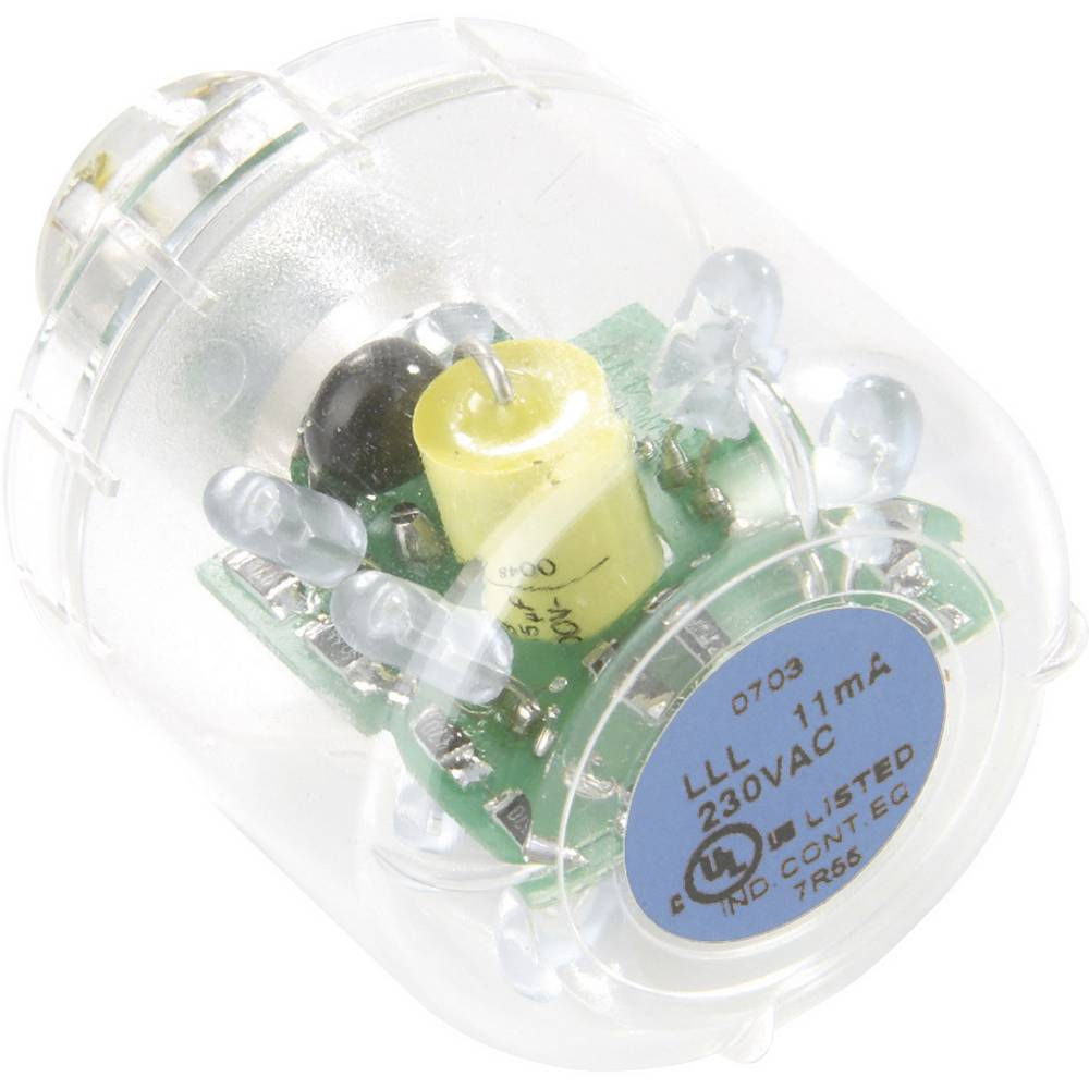 Auer Signalgeräte LED-svetilka LED-neprekinjena luč LLL modra, 24 V AC/DC, BA15d