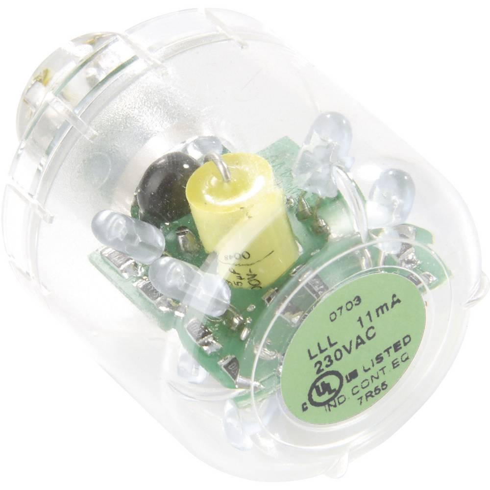 Auer Signalgeräte LED-svetilka LED-neprekinjena luč LLL zelena, 230/240 V AC, BA15d