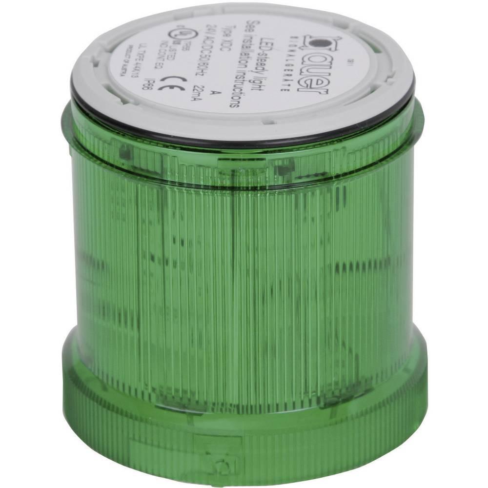 Signalni svetlobni modul Auer Signalgeräte XLL zelena neprekinjena luč 12 V/DC, 12 V/AC, 24 V/DC, 24 V/AC, 48 V/DC, 48 V/AC, 110