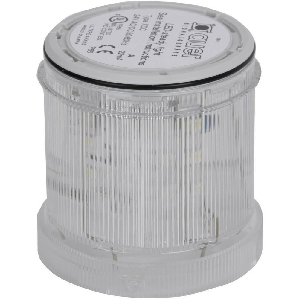 Signalni svetlobni modul Auer Signalgeräte XDC-HP bela neprekinjena luč 24 V/DC, 24 V/AC