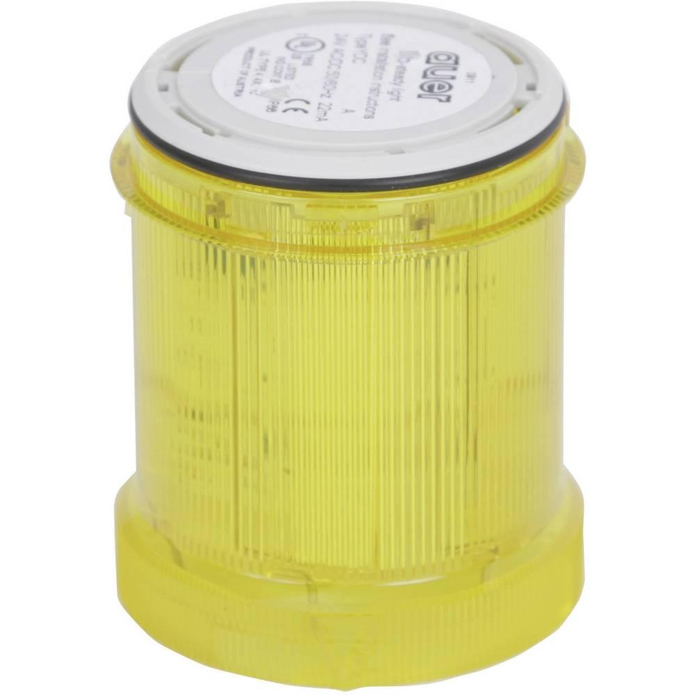 Signalni svetlobni modul Auer Signalgeräte YLL rumena neprekinjena luč 12 V/DC, 12 V/AC, 24 V/DC, 24 V/AC, 48 V/DC, 48 V/AC, 110