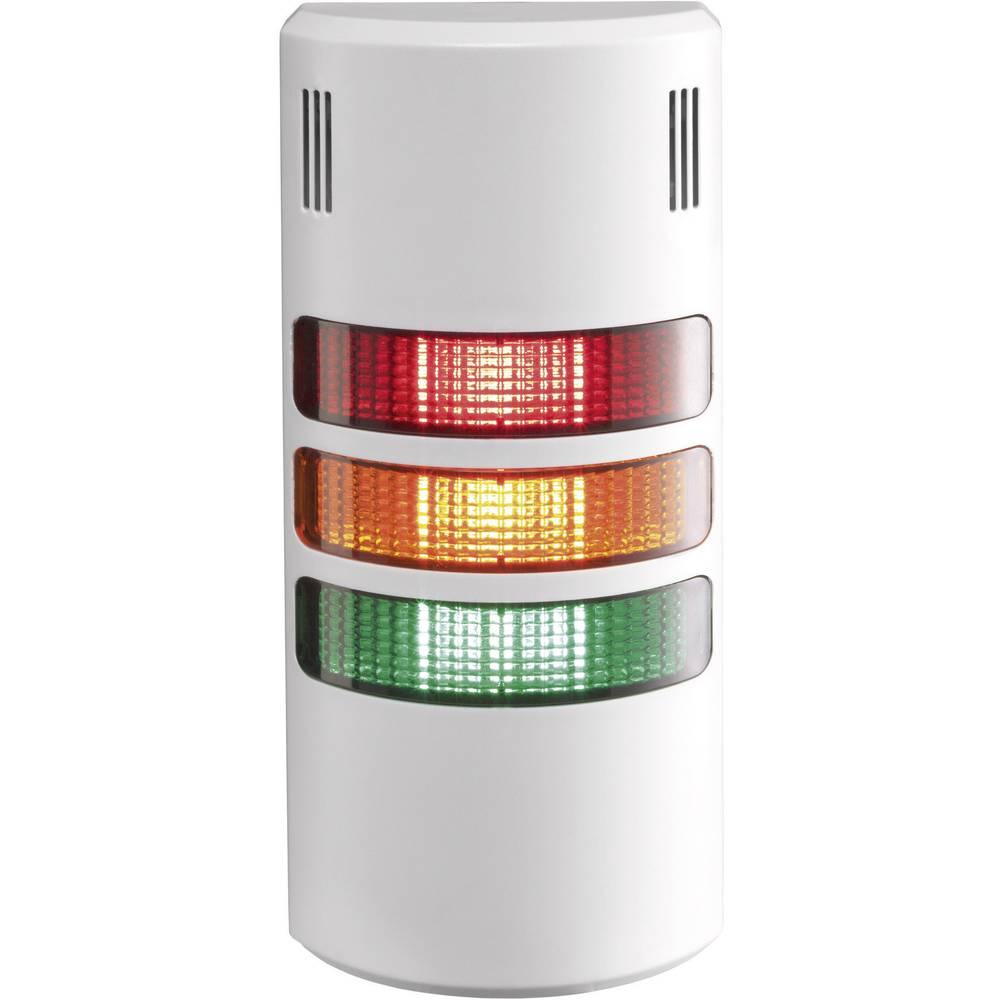 Auer Signalgeräte LED-signalni stolpični sistem halfDOME90 HD90 LED-neprekinjena luč rdeča, oranžna, zelena 3-fazni/piezo brenča