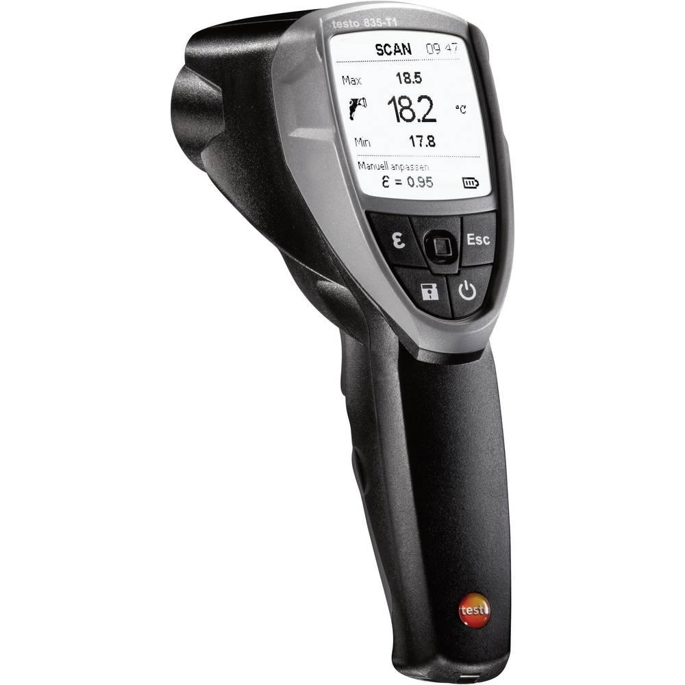 Infrardeči termometer testo 835-T1 optika 50:1 -30 do +650 °C kalibracija narejena po: ISO