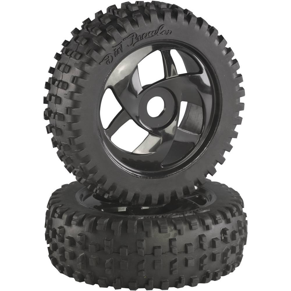 Absima 1:8 Buggy Kompletna kolesa Block-Spike Twister Črna 2 KOS