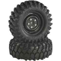 Komplet koles za modele Crawler, Absima, 1:10, profil Offroad V Block, črna, 2 kosa