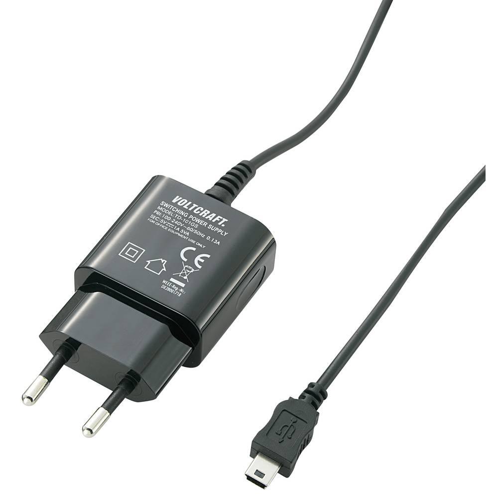 USB-polnilna vtičnica VOLTCRAFT SPS-1000 MiniUSB izhodni tok (maks.) 1000 mA 1 x Mini-USB