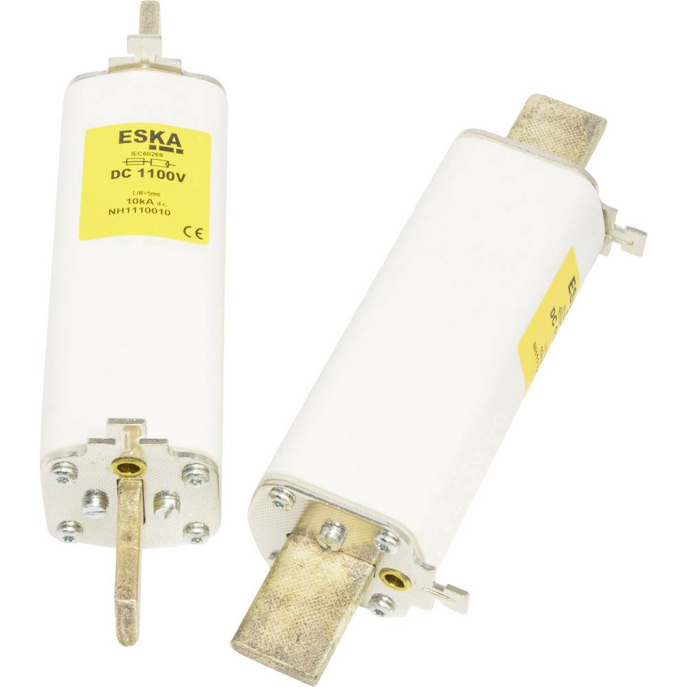 NH-sikring Sikringsstørrelse = 1 100 A 1100 V/DC ESKA NH 1 DC 1100V 100A Trip K.