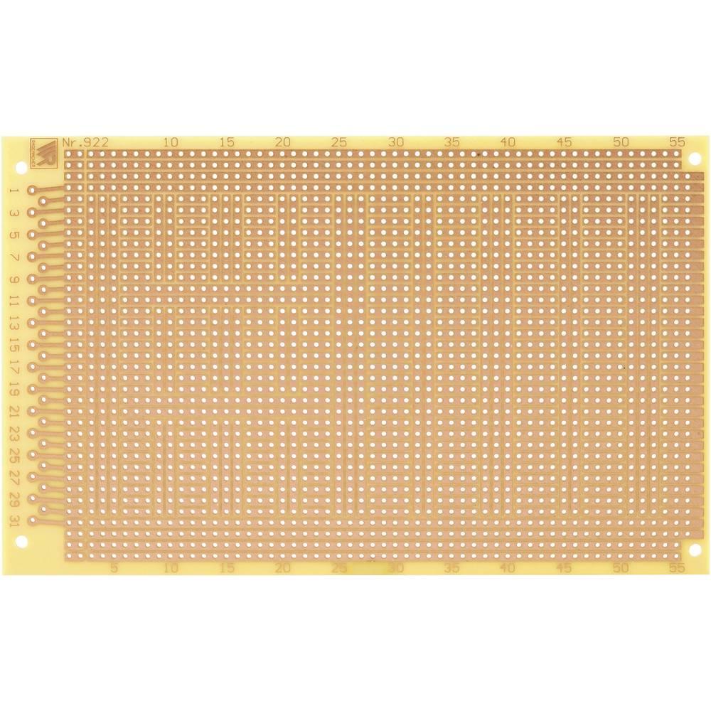 Laboratorijska plošča (D x Ĺ x V) 160 x 100 x 1.5 mm, mere rastra 2.54 mm C-922-HP WR Rademacher