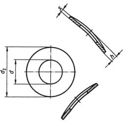 TOOLCRAFT opružna podloška, unutarnji promjer: 4.3 mm M4 DIN 137 nehrđajući čelik A2 100 komada TOOLCRAFT A4 D137-A2 194667