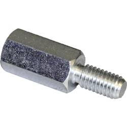 Afstandsbolte (L) 15 mm M4x9 M4x8 Stål verzinkt PB Fastener S47040X15 10 stk