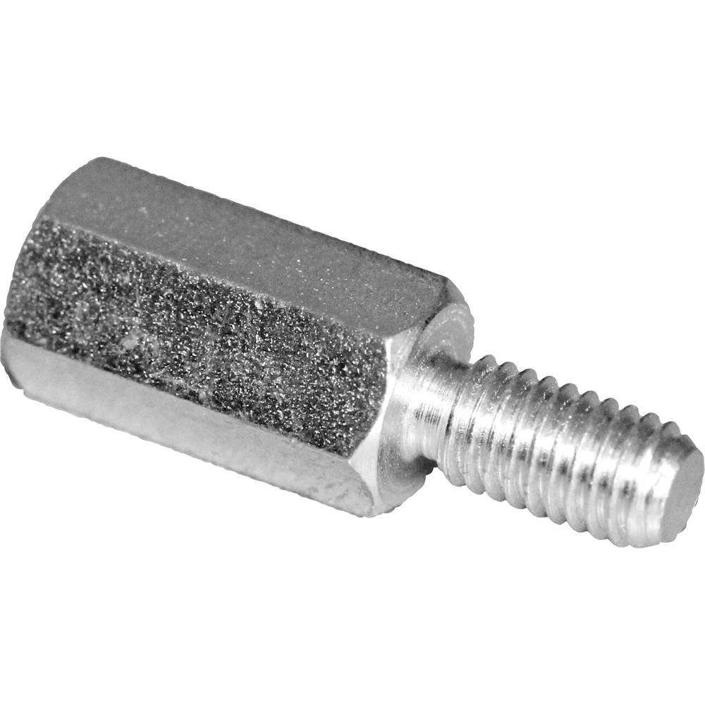 Afstandsbolte (L) 30 mm M3x7 M3x6 Stål verzinkt PB Fastener S45530X30 10 stk