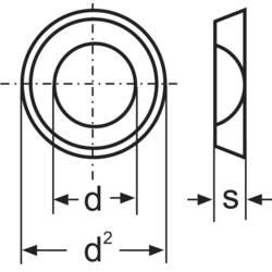 TOOLCRAFT podloške, unutarnji promjer: 5.3 mm M5 DIN 125 čelik pocinčani 100 komada TOOLCRAFT A5,3 D125:A2K 194701