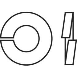 TOOLCRAFT opružna podloška, unutarnji promjer: 2.1 mm M2 DIN 127 nehrđajući čelik A2 100 komada TOOLCRAFT B2 D127-A2 194675