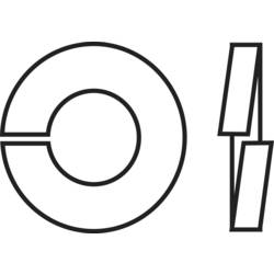 TOOLCRAFT opružna podloška, unutarnji promjer: 4.1 mm M4 DIN 127 nehrđajući čelik A2 100 komada TOOLCRAFT B4 D127-A2 194681