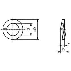 TOOLCRAFT opružna podloška, unutarnji promjer: 2.1 mm M2 DIN 127 nehrđajući čelik A2 100 komada TOOLCRAFT B2 D127-A2K 194685