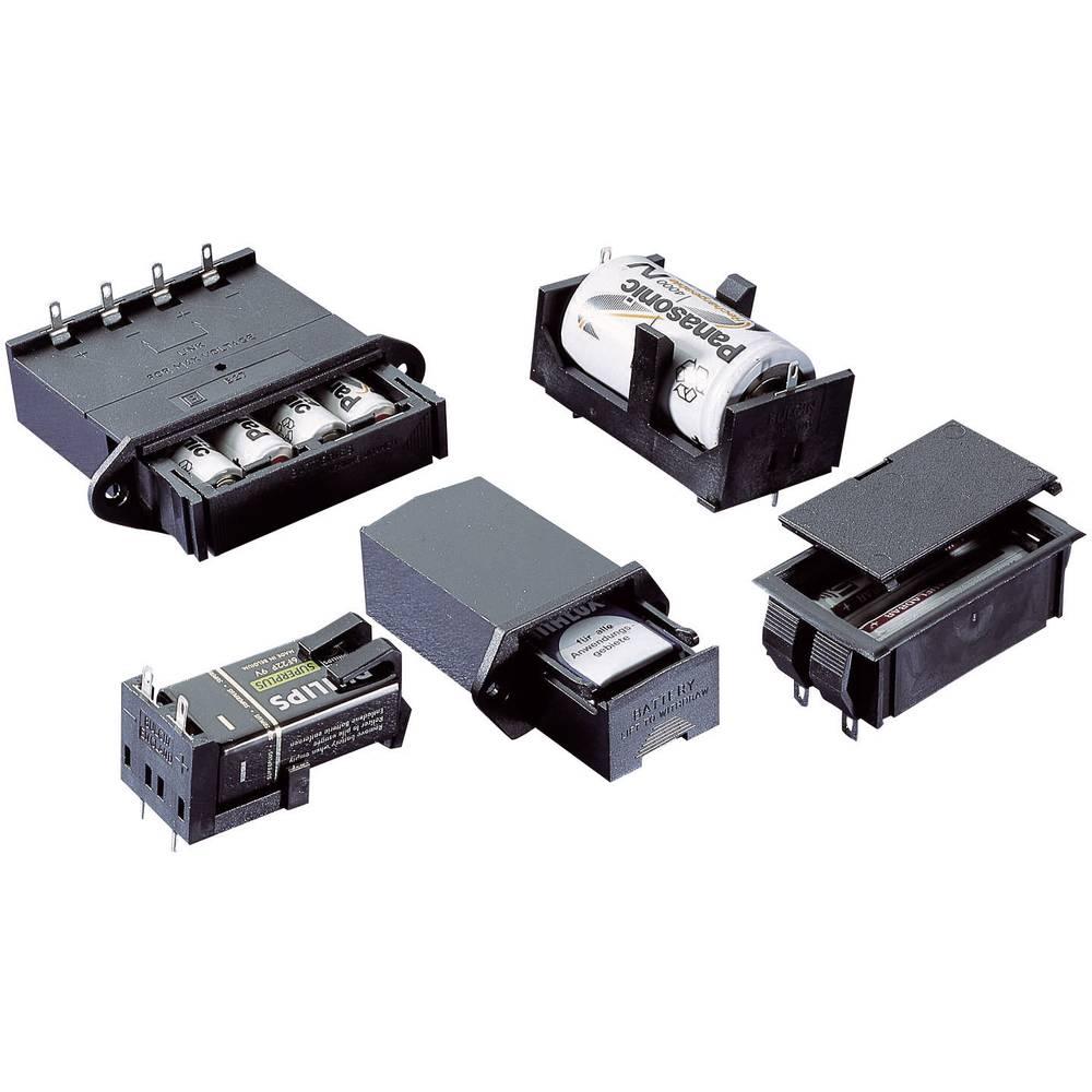 Vgradno držalo za baterije, za montažo na tiskana vezja, baterijski predal, (D x Š x V) 59.2 x 30.2 x 26.5 mm