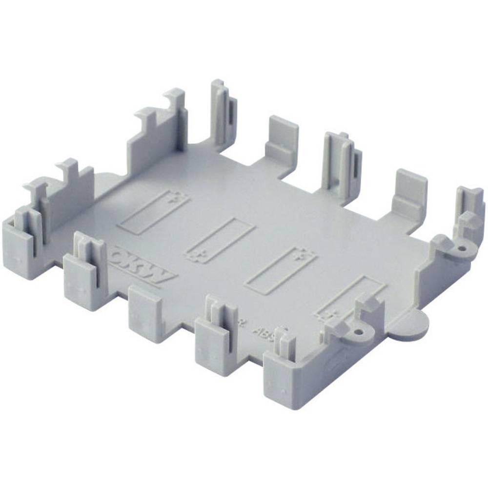 OKW-Kućište za bateriju za COMTEC A9174004, ABS masa, sivo, pogodno za 4xAA(1,5V) baterije